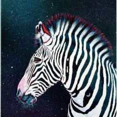 Surreal+Zebra+Moon+Between the lines+Acyrlic painting+Animal Art+Nicola McLean+Surrealism