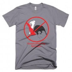 Stop bull-fighting short sleeve t-shirt
